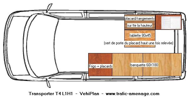 plan amenagement transporter t5 maison design vuil co. Black Bedroom Furniture Sets. Home Design Ideas