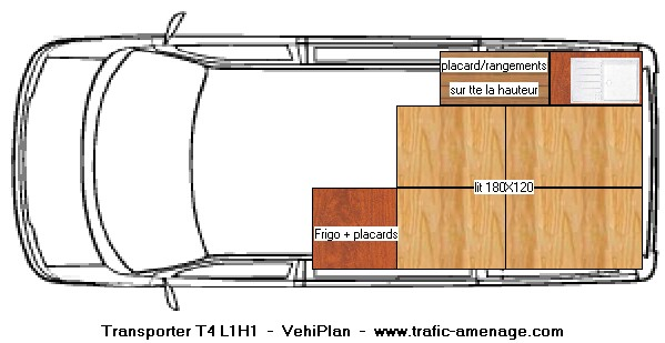 Voir le sujet plan pour amenagement vw t4 - Plan amenagement transporter t5 ...