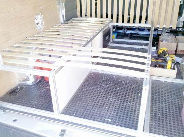 Voir le sujet transit kombi 2012 l2h1 5 - Fabriquer une banquette lit ...