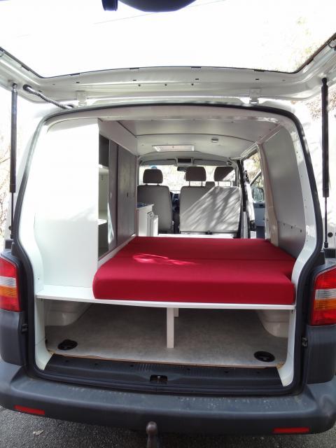 Voir le sujet vw t5 2006 l1h1 3 places quotidien et road - Plan amenagement transporter t5 ...
