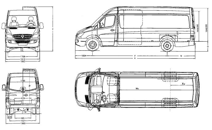 Sprinter dimensions interior for Mercedes plan